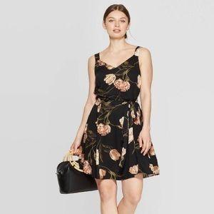 Women's Floral Print Sleeveless V-Neck Woven Dress